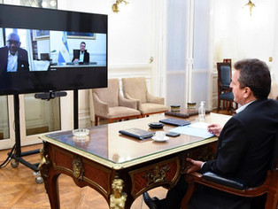 Sergio Massa, en diplomacia parlamentaria, agradeció a legislador de Biden apoyo al país ante el FMI