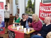 La izquierda intransigente presentó a los candidatos regionales en sede sindical con viejo libreto