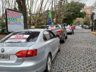 La bronca botó en las calles de Olivos