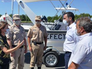 Ministra Frederic  estuvo en San Fernando presentando las nuevas embarcaciones para la Prefectura