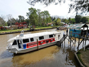 Tigre: el Catamarán Sanitario recorre el delta brindando atención médica
