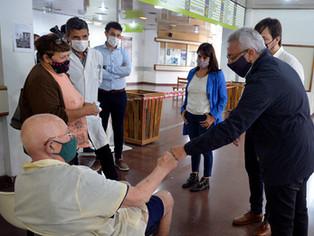Zamora y el viceministro Kreplak de recorrida, y con anuncio de nuevo Centro de Salud