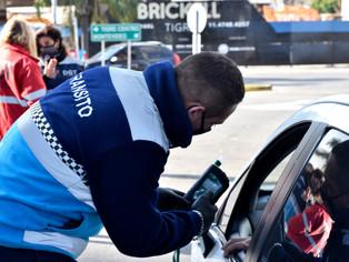 Tigre: el Día Nacional de la Seguridad Vial debutó con 0 alcohol al volante