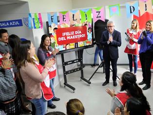 Julio Zamora: Día del Maestro con felicitaciones y obras municipales incluidas
