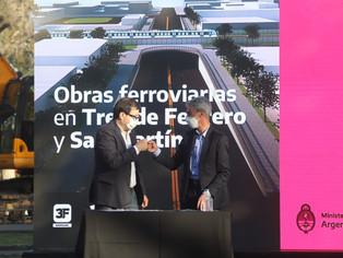San Martín: construye Paso Bajo Nivel de Perdriel y va por más obras