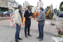 El intendente Moreira y katopodis desayunan con obras