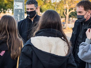Jorge Macri, con mochila al hombro, sale a respaldar a Diego Santilli para derrotar al radicalismo