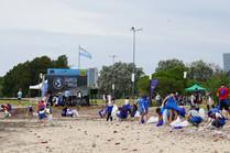 El voluntarismo limpió el Paseo de la Costa