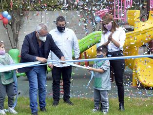 Tigre: el municipio equipó con nuevos y modernos juegos al Jardín N° 905