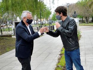 Los hermanos sean unidos….Andreotti y Zamora inauguraron la nueva plaza en el Canal San Fernando-Tig