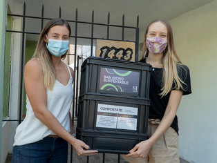 Macarena Posse prepara el terreno ambiental: entregó la compostera 3.000 a Vesna Barisic