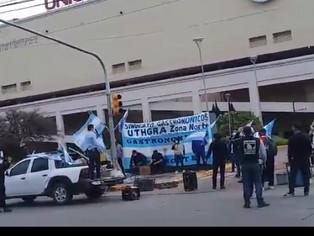 Tras el descontrol, movilización frente a Unicenter,