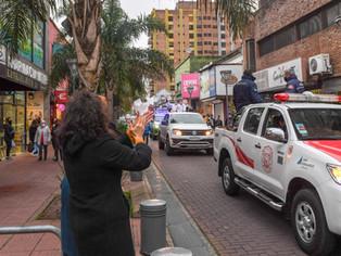 Andreotti participó de la procesión de Nuestra Señora de Aránzazu