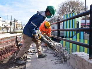 Villa Ballester: el municipio avanza con el nuevo paso peatonal