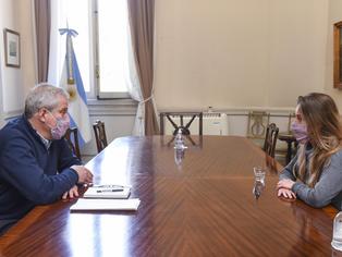 El Ministro Perczyk se reunió con su par de la provincia para avanzar con la normalidad