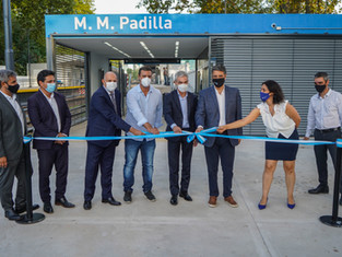 Trenes Argentinos, junto Meoni y Macri, habilitó la nueva estación Padilla en V. Martelli, y van...