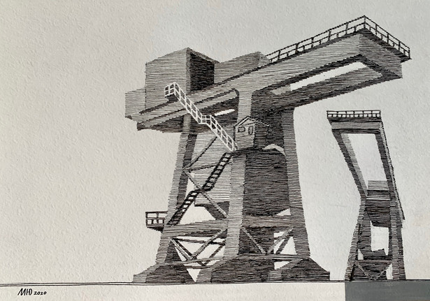 Port crane.