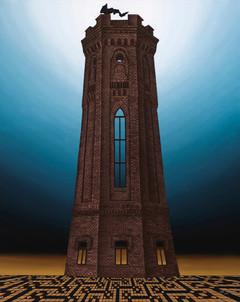 Distopolis. Black tower.