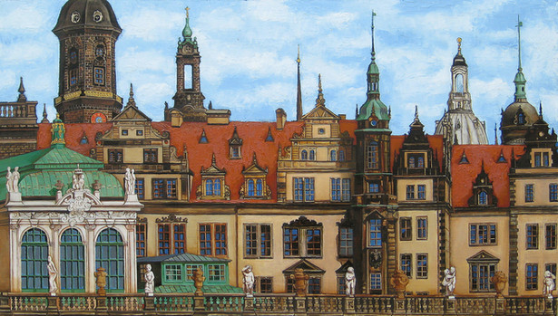 Panorama Of Dresden. View from the Dresd