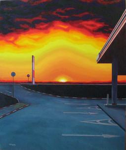 Auroral Gas Station.