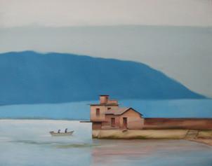 Lake. Boat.