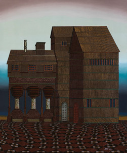 Distopolis. Rustling grass house.