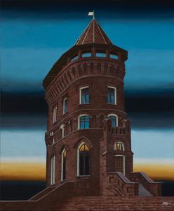 Distopolis. White tower.