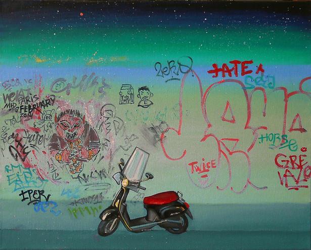 Graffiti Series. Paris. 9 february.