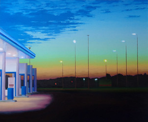 A Petrol Station in Blue.