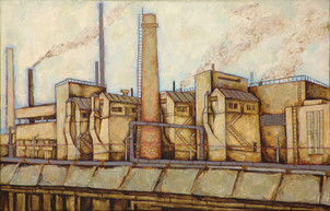 Oil factory.