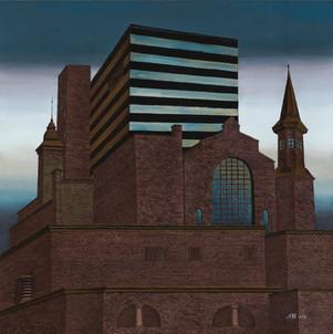 Distopolis. Dark castle.