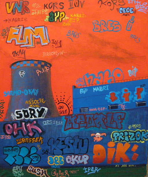 Transformation of graffiti. № 1. Black S