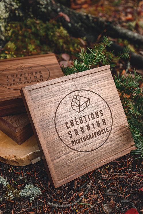 Boite souvenir en bois