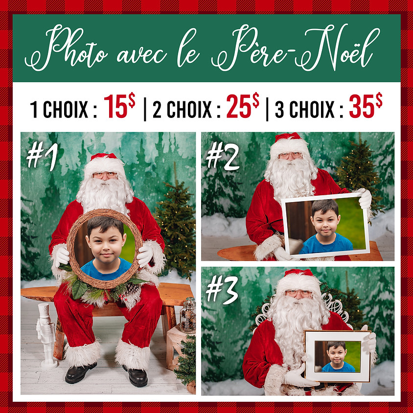 Photo avec le Père-Noël