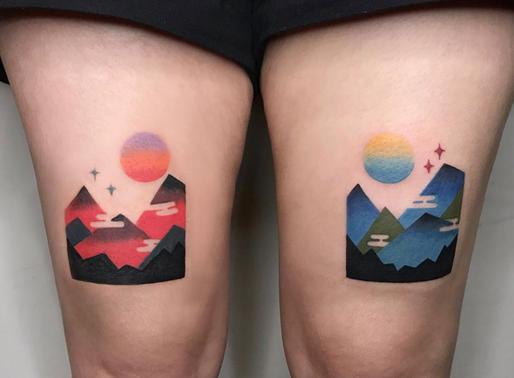 16 Amazing mountain tattoos to inspire you