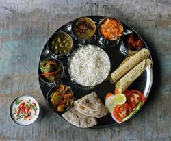 food at the Nilaya- Himachali Thali