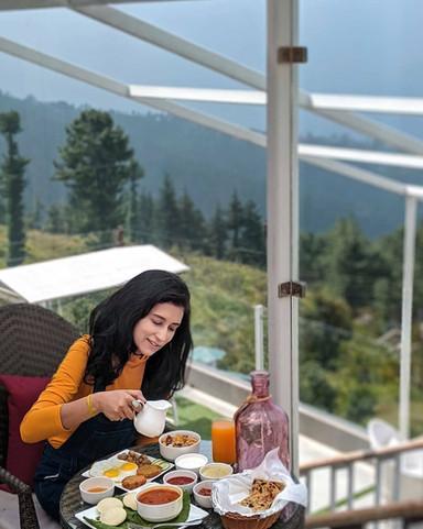 Breakfast at The Nilaya Mashobra