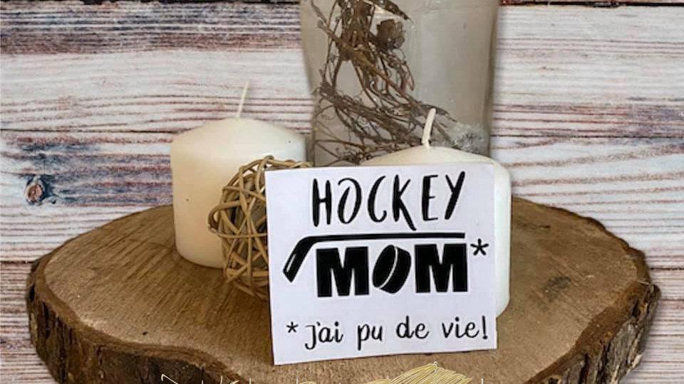 """Décalque de vinylenoir """"Hockey MOM"""""""