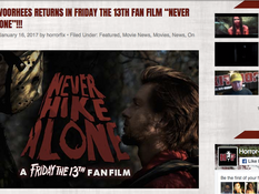 Horror-fix Shares 'Never Hike Alone' Kickstarter, Trailer