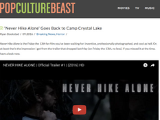 'Never Hike Alone' Featured on Pop Culture Beast