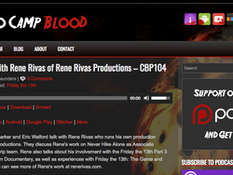 'NHA' Associate Producer Rene Rivas Chats with Camp Blood Podcast