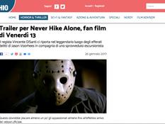 'Never Hike Alone' Featured on Italian Film Site, Il Cineocchio