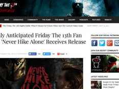 Friday the 13th Franchise Hypes the Release of 'Never Hike Alone'