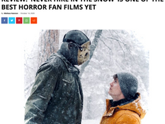 HorrorGeekLife declares 'Never Hike in the Snow' one of the best horror fan films yet!