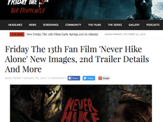 Friday the 13th Franchise Promotes New 'Never Hike Alone' Kickstarter