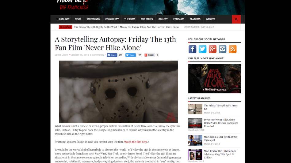 Friday the 13th Franchises Storytelling Autopsy of 'Never Hike Alone'