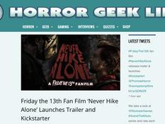 Horror Geek Life Supports 'Never Hike Alone' Kickstarter