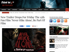 Friday the 13th Franchise Continues Support of 'Never Hike Alone'