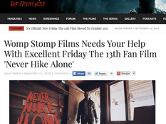 Fridaythe13thfranchise.com Praises 'Never Hike Alone'
