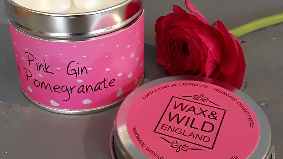 Wax and Wild hand made candles.